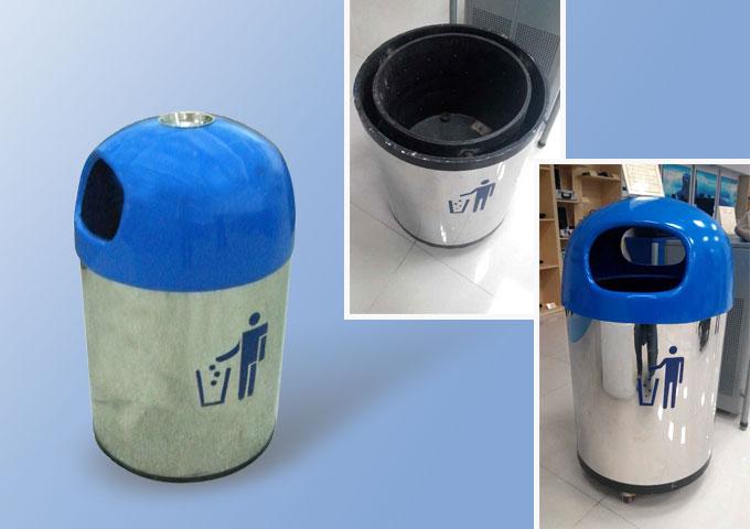 sma-ljt01小型垃圾桶式防爆罐