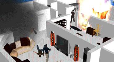 现场/●火灾现场三维立体重建